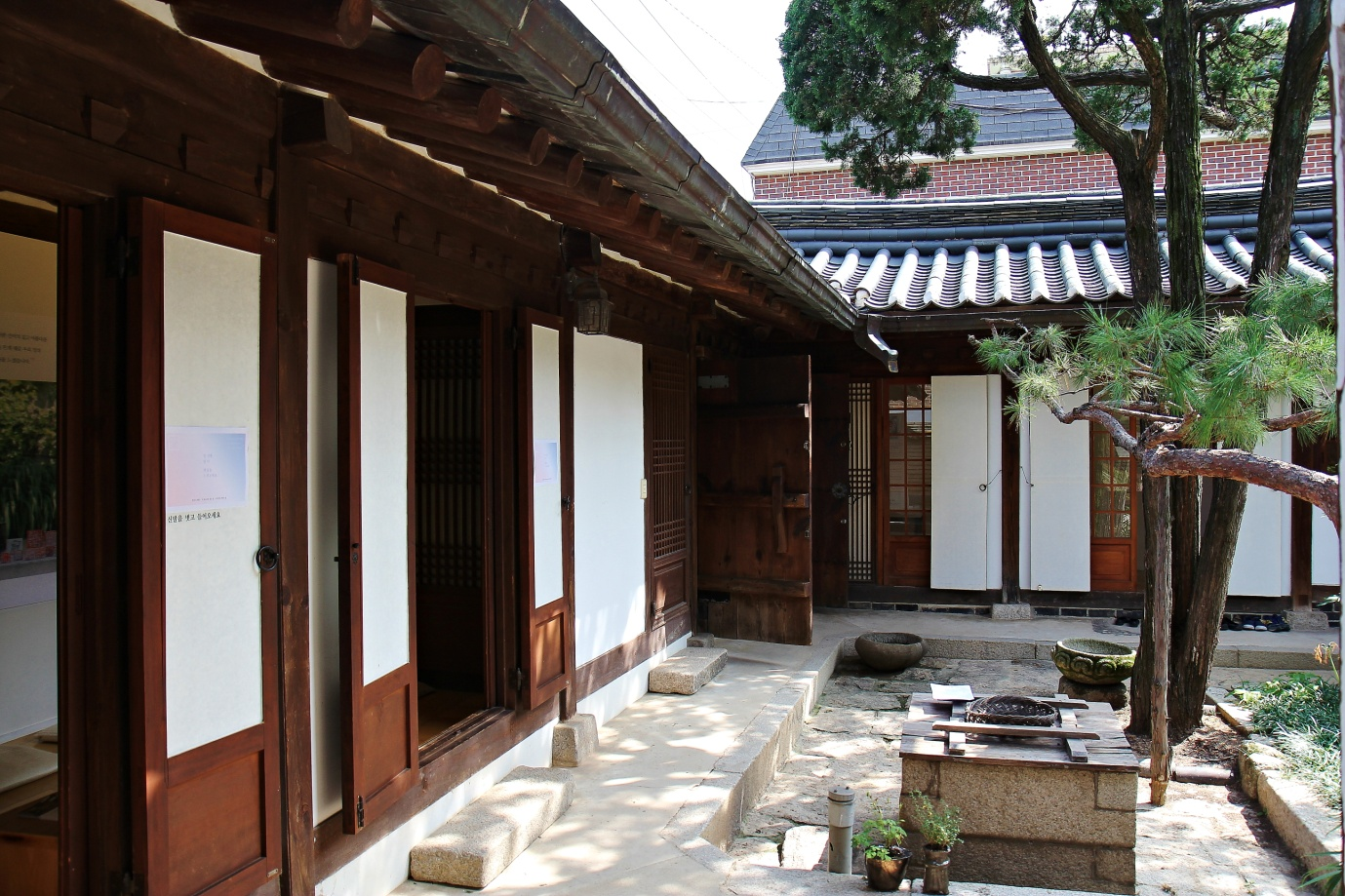 The traditional Korean hanok home